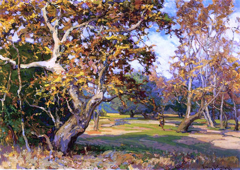 Franz Bischoff View of the Arroyo Seco from the Artist's Studio - Hand Painted Oil Painting