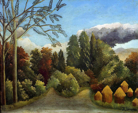 Henri Rousseau View of the Banks of the Oise - Hand Painted Oil Painting