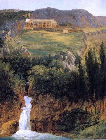 Antoine-Felix Boisselier View of the Benedictine Monastery at Subiaco - Hand Painted Oil Painting