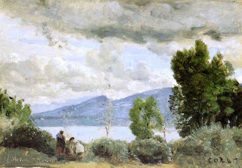 Jean-Baptiste-Camille Corot View of the Chalet de Chenes, Bellevue, Geneva - Hand Painted Oil Painting