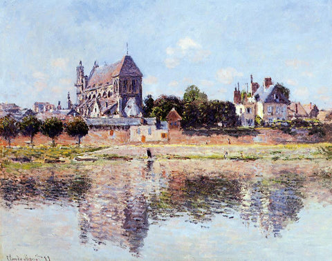 Claude Oscar Monet View of the Church at Vernon - Hand Painted Oil Painting