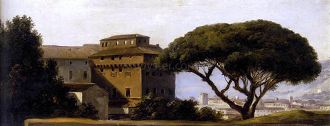 Pierre-Henri De Valenciennes View of the Convent of Ara Coeli with Pines - Hand Painted Oil Painting