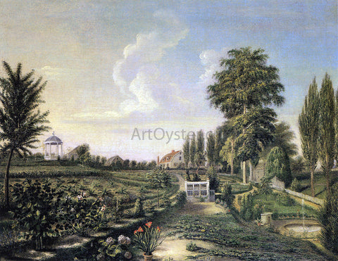 Charles Willson Peale View of the Garden at Belfield - Hand Painted Oil Painting
