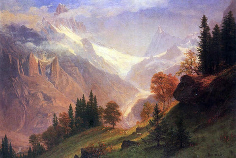 Albert Bierstadt View of the Grunewald - Hand Painted Oil Painting