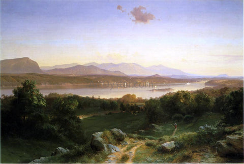 Johann Hermann Carmiencke View of The Hudson from Hyde Park - Hand Painted Oil Painting