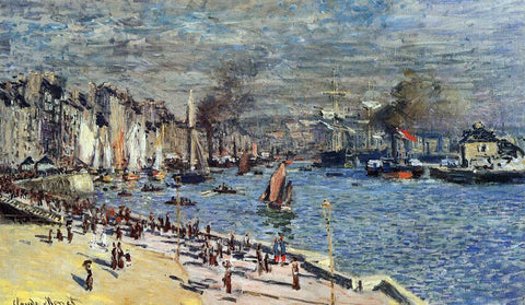 Claude Oscar Monet View of Rouen - Hand Painted Oil Painting