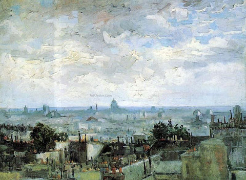 Vincent Van Gogh View of the Roofs of Paris - Hand Painted Oil Painting