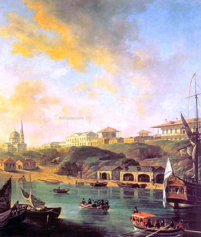 Fedor Yakovlevich Alekseev View of the town Nikolaev - Hand Painted Oil Painting