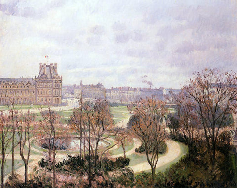 Camille Pissarro View of the Tulleries: Morning - Hand Painted Oil Painting
