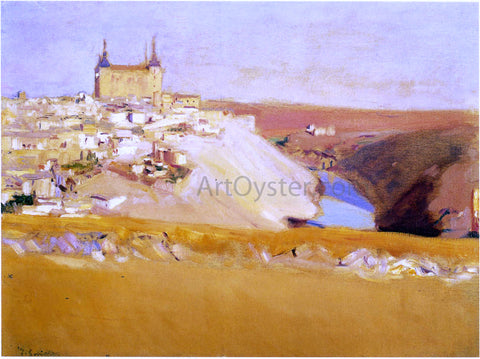 Joaquin Sorolla Y Bastida View of Toledo - Hand Painted Oil Painting
