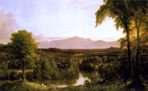 Thomas Cole View on the Catskill - Early Autumn - Hand Painted Oil Painting