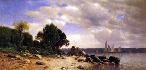 Jr. Samuel Colman View on the Hudson - Hand Painted Oil Painting