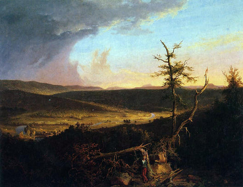 Thomas Cole View on the Schoharie - Hand Painted Oil Painting