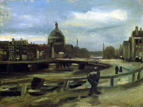 Vincent Van Gogh View on the Singel in Amsterdam - Hand Painted Oil Painting