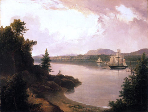 Thomas Doughty View on the St. Croix River near Robbinston - Hand Painted Oil Painting