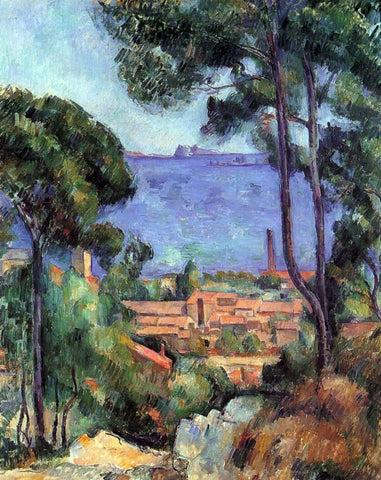 Paul Cezanne View through the Trees - Hand Painted Oil Painting