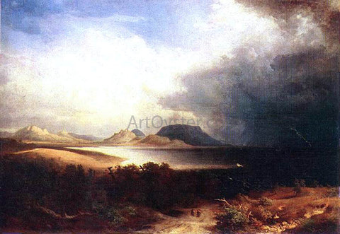Sandor Brodszky View to the Lake Balaton (Storm) - Hand Painted Oil Painting