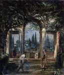 Diego Velazquez Villa Medici in Rome (also known as Pavillon of Ariadne) - Hand Painted Oil Painting