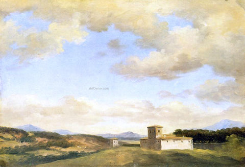 Pierre-Henri De Valenciennes Villa near Rome - Hand Painted Oil Painting