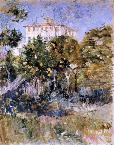 Berthe Morisot Villa with Orange Trees, Nice - Hand Painted Oil Painting