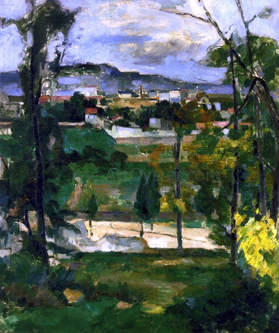 Paul Cezanne Village behind Trees, Ile de France - Hand Painted Oil Painting