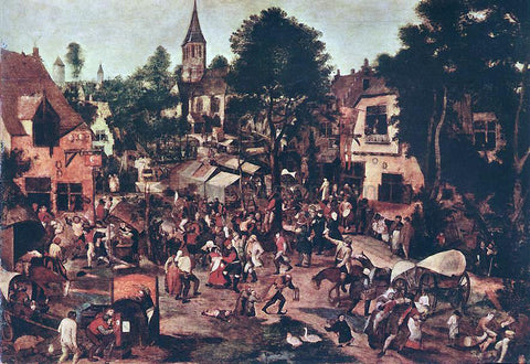 The Younger Pieter Brueghel Village Feast - Hand Painted Oil Painting