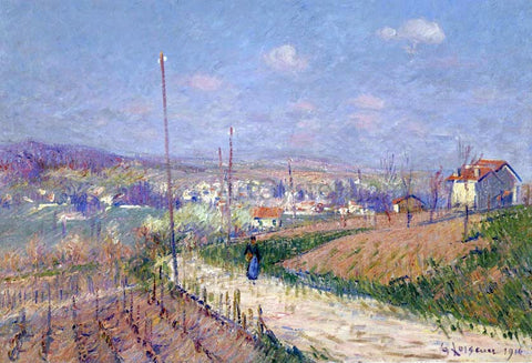 Gustave Loiseau Village in Spring - Hand Painted Oil Painting