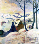 Paul Gauguin Village in the Snow - Hand Painted Oil Painting