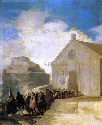Francisco Jose de Goya Y Lucientes Village Procession - Hand Painted Oil Painting