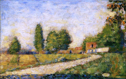 Georges Seurat Village Road - Hand Painted Oil Painting
