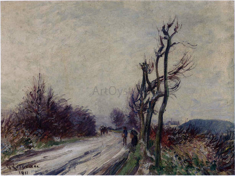 Gustave Loiseau Village Road in Autumn - Hand Painted Oil Painting