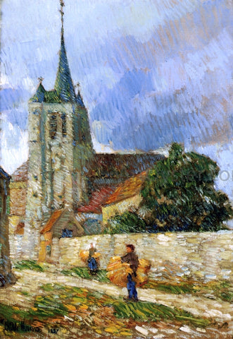 Frederick Childe Hassam Village Scene, Breton - Hand Painted Oil Painting