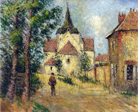 Gustave Loiseau A Village Street - Hand Painted Oil Painting