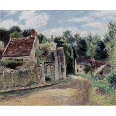 Victor Vignon Village Street - Hand Painted Oil Painting