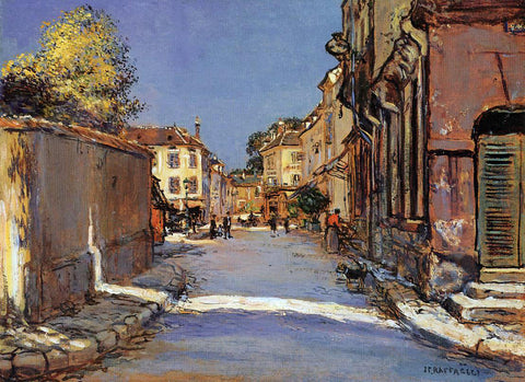 Jean-Francois Raffaelli Village Street - Hand Painted Oil Painting
