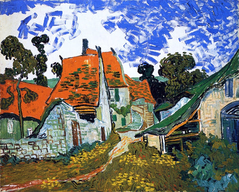 Vincent Van Gogh Village Street - Hand Painted Oil Painting