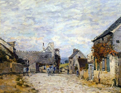 Alfred Sisley Village Street - Louveciennes - Hand Painted Oil Painting