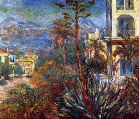 Claude Oscar Monet A Villa at Bordighera - Hand Painted Oil Painting