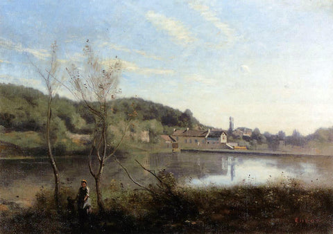 Jean-Baptiste-Camille Corot Ville d'Avray, the Large Pond and Villas - Hand Painted Oil Painting