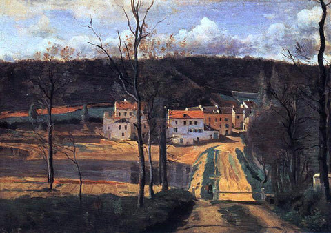Jean-Baptiste-Camille Corot Ville d'Avray - the Pond and the Cabassud House - Hand Painted Oil Painting