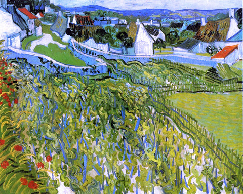 Vincent Van Gogh Vineyards with a View of Auvers - Hand Painted Oil Painting