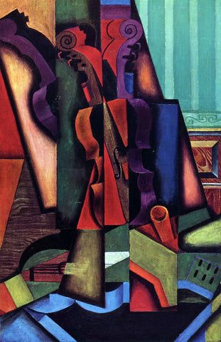 Juan Gris Violin and Guitar - Hand Painted Oil Painting