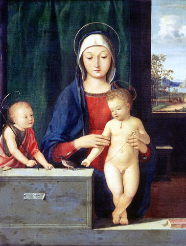 Andrea Solario Virgin and Child - Hand Painted Oil Painting