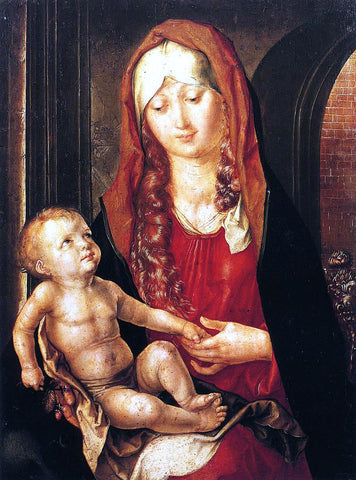 Albrecht Durer Virgin and Child Before an Archway - Hand Painted Oil Painting