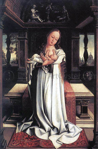 Bernaert Van Orley Virgin and Child - Hand Painted Oil Painting