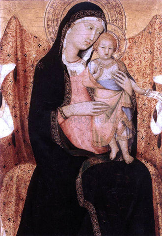 Lippo Memmi Virgin and Child (detail) - Hand Painted Oil Painting
