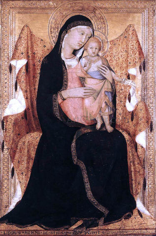 Lippo Memmi Virgin and Child - Hand Painted Oil Painting