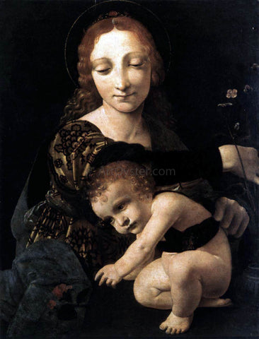 Giovanni Antonio Boltraffio Virgin and Child with a Flower Vase - Hand Painted Oil Painting