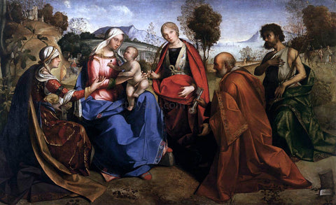 Boccaccio Boccaccino Virgin and Child with Saints - Hand Painted Oil Painting