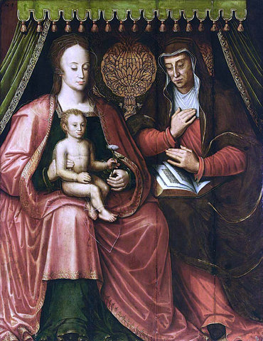 Antoon Claeissens Virgin and Child with St Anne - Hand Painted Oil Painting